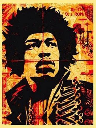 Screenprint Fairey - Hendrix