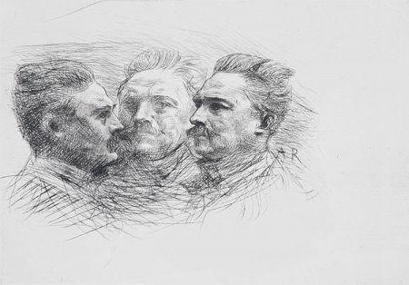 Etching Rodin - Henri Becque