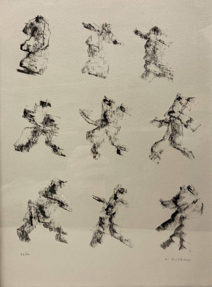 Lithograph Michaux - Henri Michaux (1899-1984). Lithographie signée et numérotée.