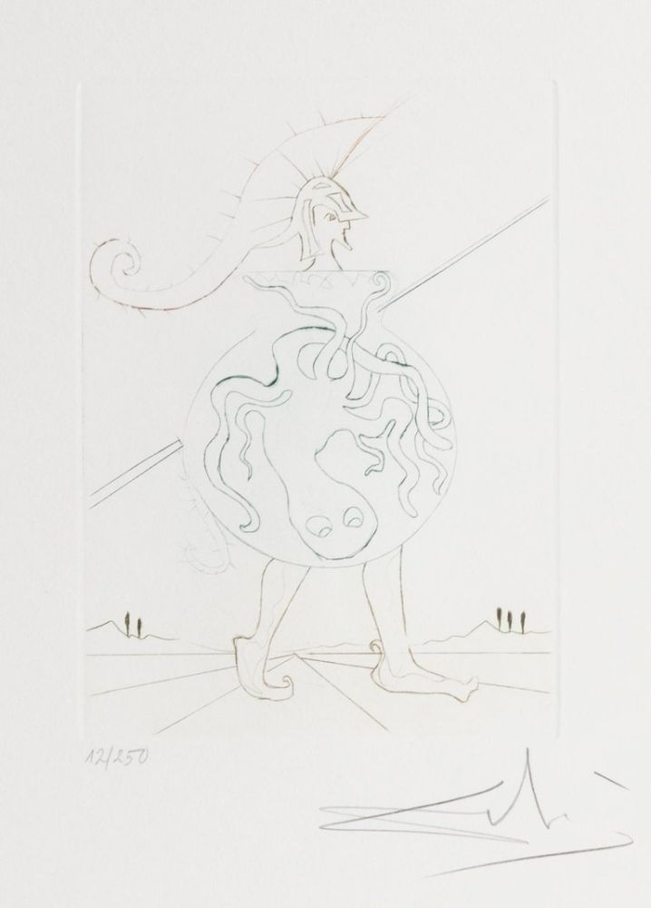 Etching Dali - Henry V from Much Ado about Shakespeare