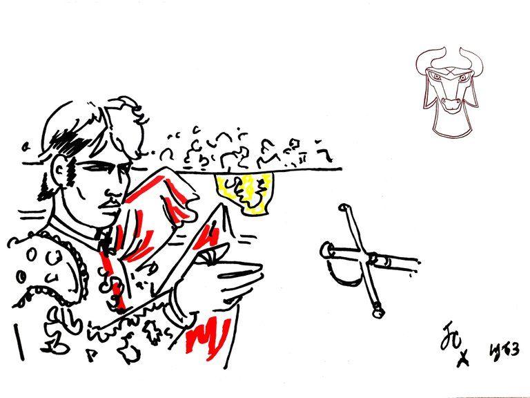 Lithograph Cocteau - Hero