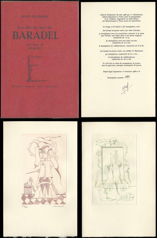 Illustrated Book Camacho  - Hervé Delabare : Les dits du sire de BARADEL. Eaux-fortes de Camacho (1968).