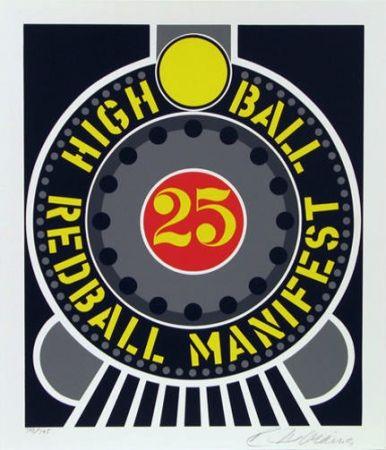 Screenprint Indiana - High ball red ball manifest