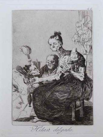 Engraving Goya - Hilan delgado