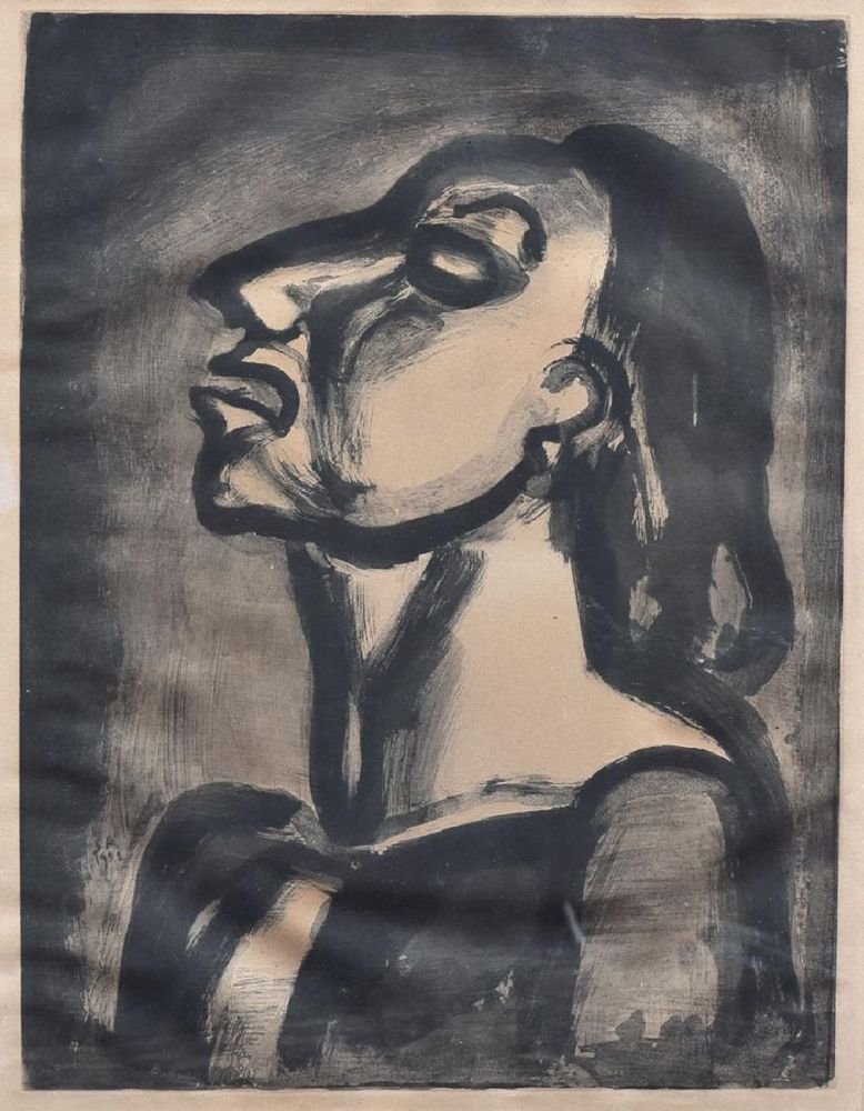 Aquatint Rouault - His Lawyer, In Hollow Phrases, Proclaims His Total Indifference