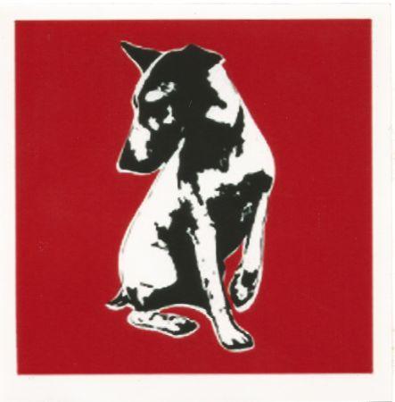 Screenprint Blek Le Rat - His Master's Voiceless (Red)