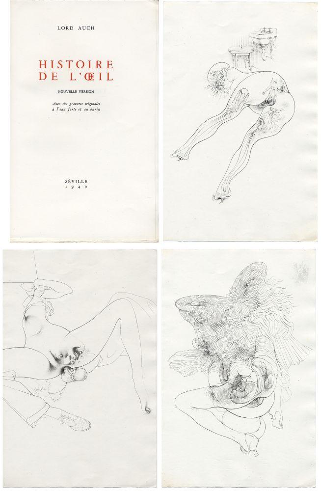 Illustrated Book Bellmer - HISTOIRE DE L'OEIL. Nouvelle version. Avec six gravures originales à l'eau-forte et au burin.
