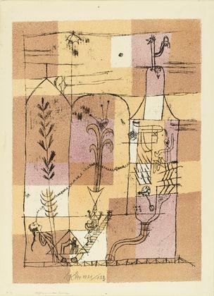 Lithograph Klee - Hoffmanneske Szene
