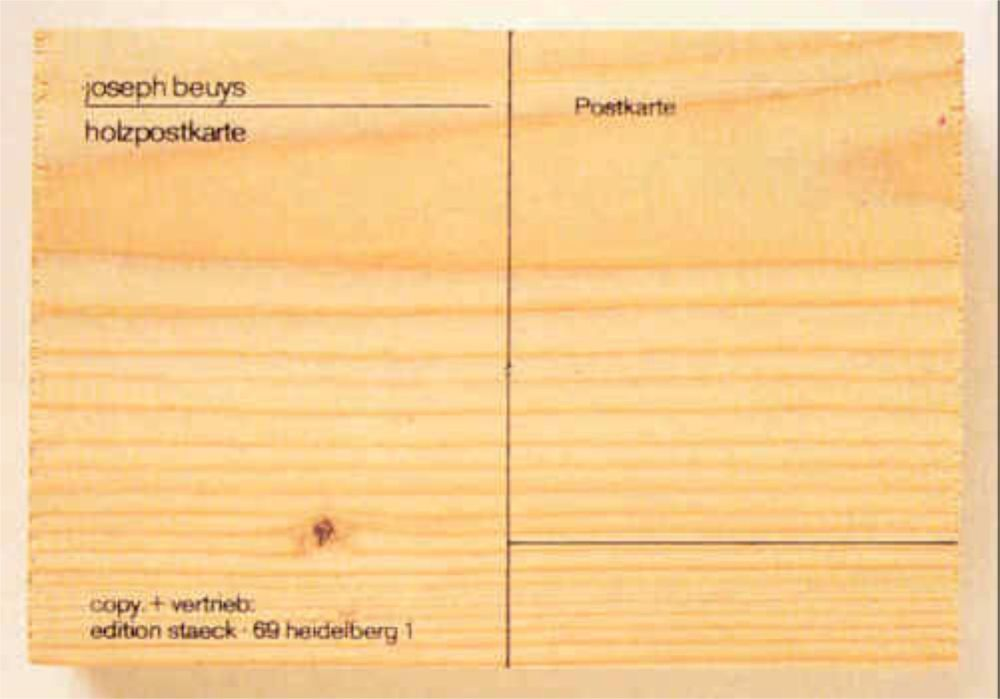 Screenprint Beuys - Holzpostkarte