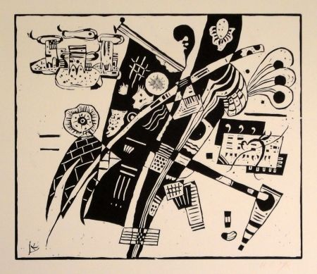 Woodcut Kandinsky - (Holzschnitt um 1935)