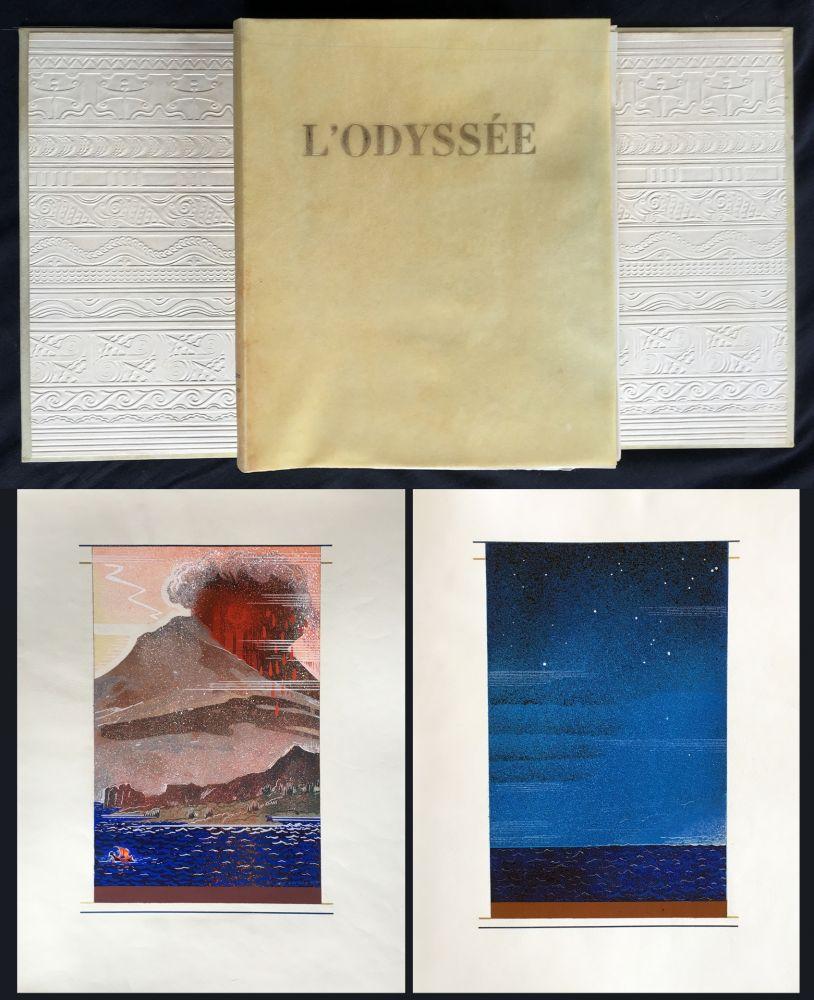 Illustrated Book Schmied - HOMÈRE : L'ODYSSÉE (1930-1933). L'exemplaire du traducteur de référence.