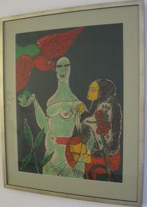 Lithograph Corneille - Homage a Eric Satie