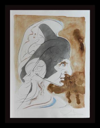 Etching Dali - Homage a Leonardo Condottiere