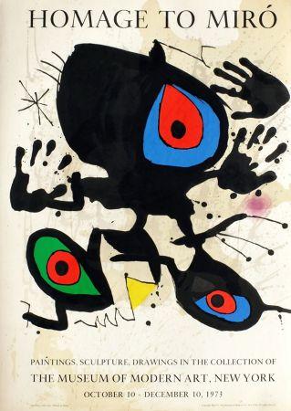 No Technical Miró - HOMAGE TO MIRO. Expo au MoMA de New York. 1973. Affiche originale.