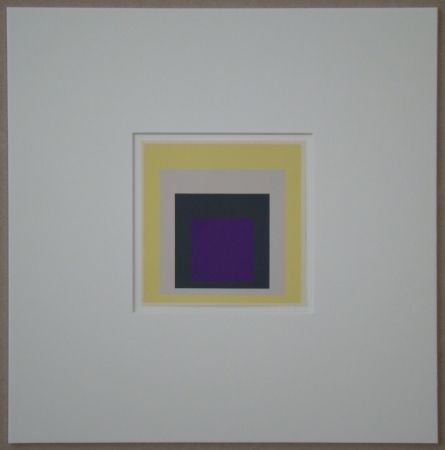 Screenprint Albers - Homage to the Square - Dedicated