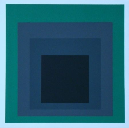 Screenprint Albers - Homage to the Square - Grisaille and Patina, 1965