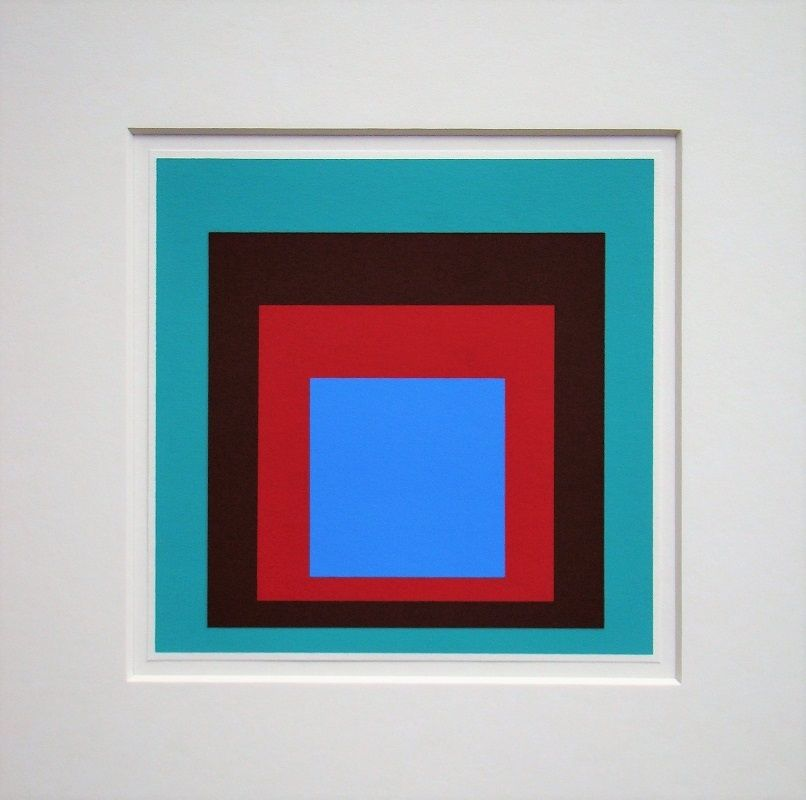 Screenprint Albers - Homage to the Square - Protected Blue,1957