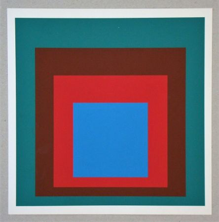 Screenprint Albers - Homage to the Square - Protected Blue - 1957