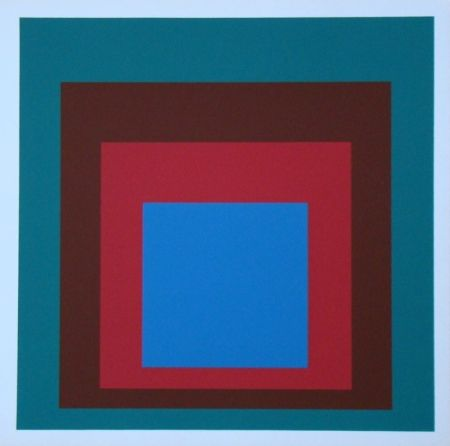 Screenprint Albers - Homage to the Square - Protected Blue, 1957