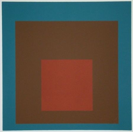 Screenprint Albers - Homage to the Square at night, 1958