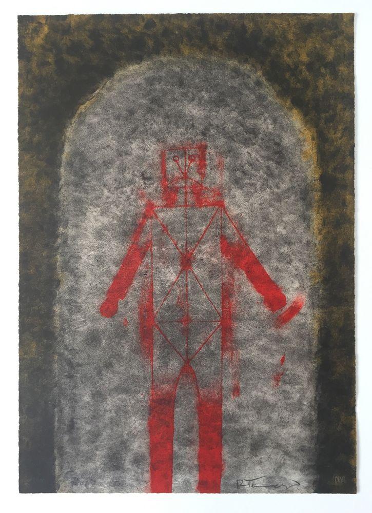 Lithograph Tamayo - Hombre en Rojo