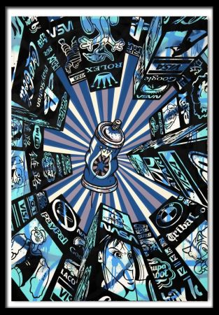 Screenprint Speedy Graphito - Home Street Home (Blue)