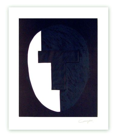 Etching Canogar - «Homenaje a Julio González» Cabeza nº 4