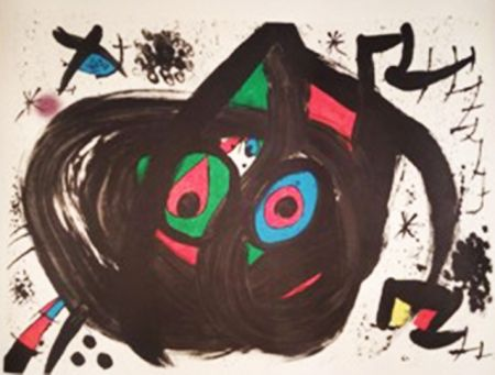 Lithograph Miró - Homentage a Joan Prats
