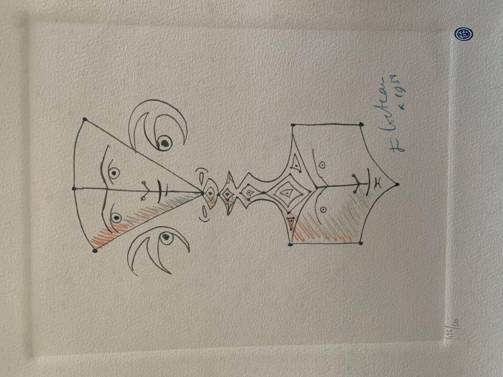 Lithograph Cocteau - Hommage