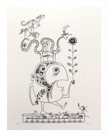Lithograph Chica - Hommage à Brauner