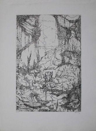 Etching Eliasberg - Hommage à Dürer (Phantasielandschaft für Dürer)