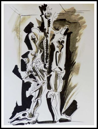 Lithograph Masson - Hommage à Dorothea Tanning