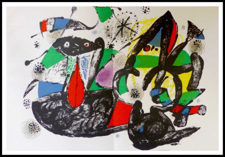 Lithograph Miró - Hommage à Dorothea Tanning