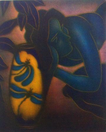 Mezzotint Schkolnyk -  Hommage à Gauguin