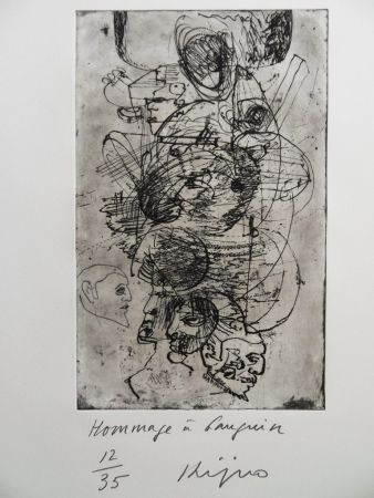 Etching Kijno - Hommage à Gauguin