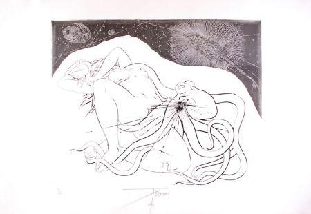 Engraving Trémois - Hommage à Hokusai