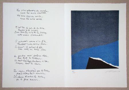 Lithograph Santomaso - Hommage à Jean Cassou, 1970