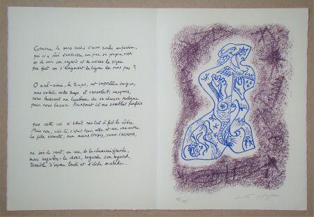 Lithograph Masson - Hommage à Jean Cassou, 1978