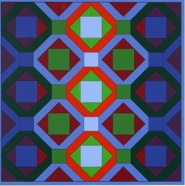 Lithograph Vasarely - Hommage à jean sébastien bach