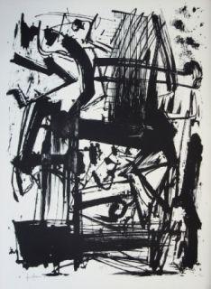 Lithograph Vedova - Hommage à Joan Prats
