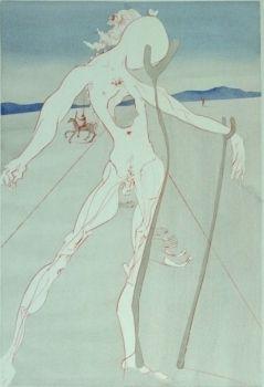 Etching Dali - Hommage à la Medecine (Vesalius)