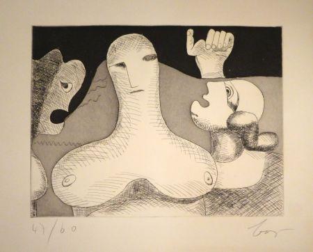 Etching Baj - Hommage à Le Corbusier