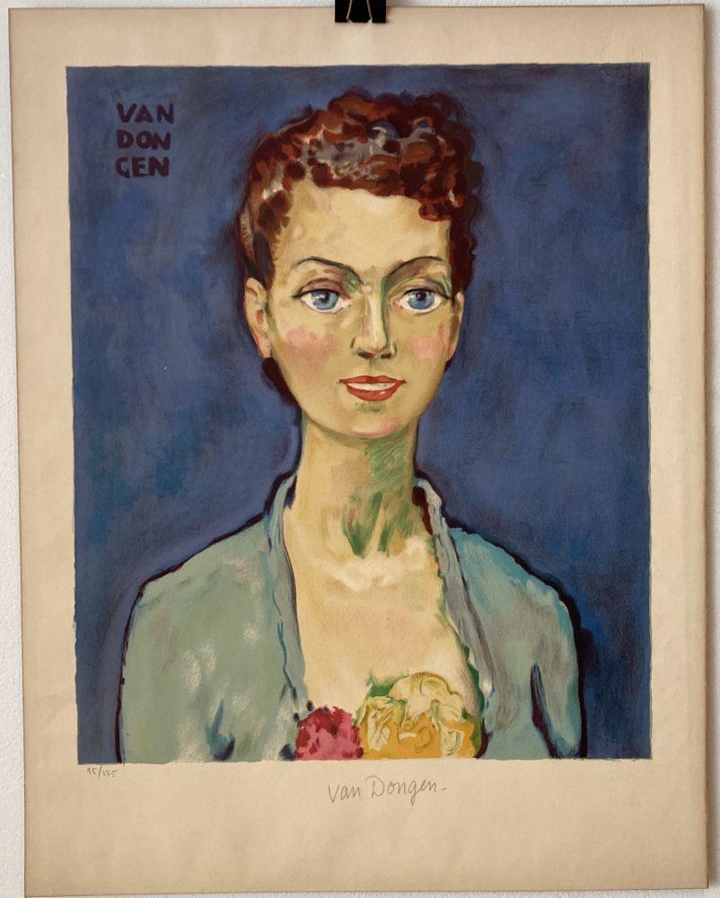 Lithograph Van Dongen - Hommage à Marie-Claire- Circa 1950