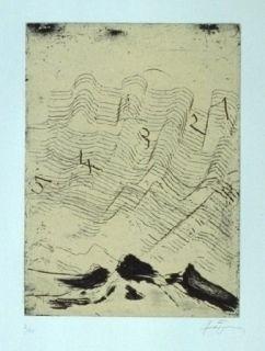 Etching And Aquatint Tàpies - Hommage à Max Ernst