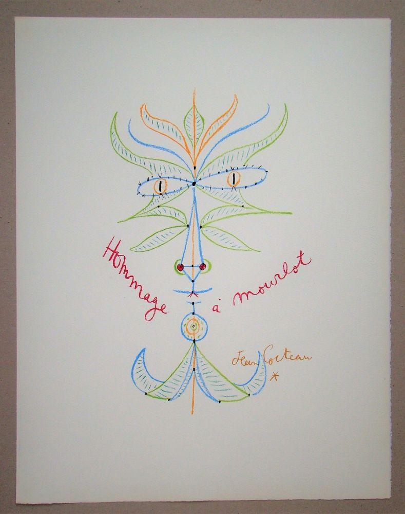 Lithograph Cocteau - Hommage à Mourlot
