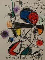 Lithograph Miró - Hommage à Mourlot