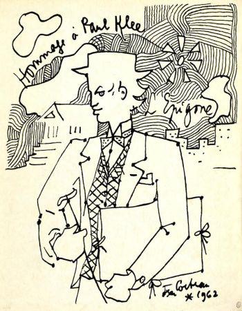 Lithograph Cocteau - Hommage à Paul Klee