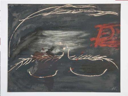 Lithograph Tàpies - Hommage à Picasso