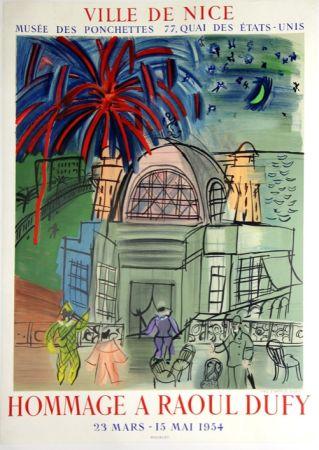 Lithograph Dufy - Hommage à Raoul Dufy  Ville de Nice