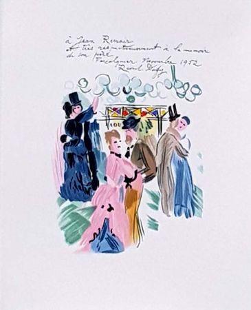 Lithograph Dufy - Hommage à Renoir